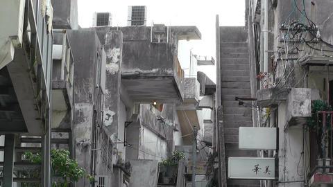 American Military Type Buildings in Okinawa Islands 02 Stock Video Footage