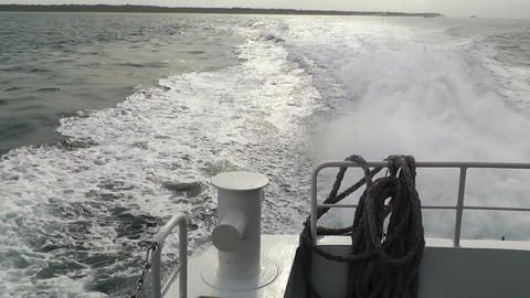 Back of a Ship 04 engine and foam Stock Video Footage