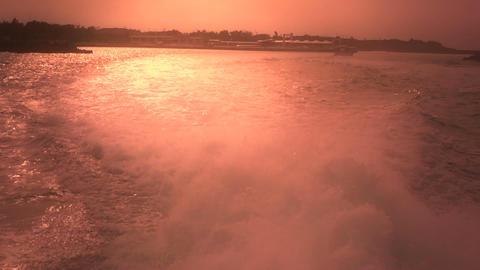 Back of a vessel stylized 01 engine foam Stock Video Footage