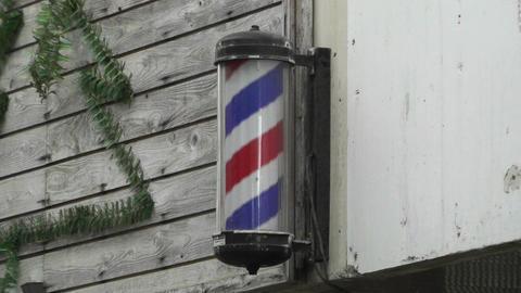 Barber Hair Dresser Sign in Japan Stock Video Footage