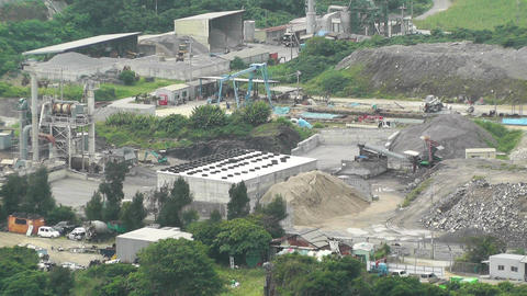 Cement and Concrete Factory in Japan 02 Stock Video Footage