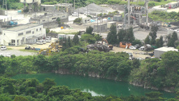 Cement and Concrete Factory in Japan 04 Stock Video Footage