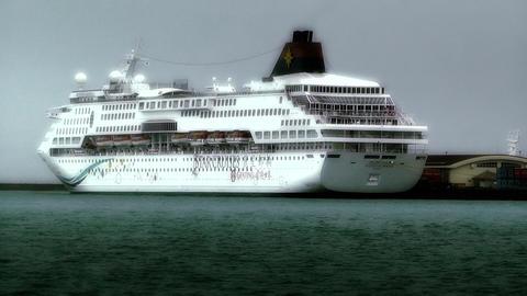 Cruise Ship in Okinawa Islands stylized 01 Footage