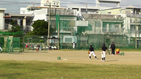 Elementary School Sport Center in Okinawa Islands Japan 02 baseball Footage