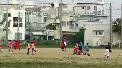 Elementary School Sport Center in Okinawa Islands Japan... Stock Video Footage
