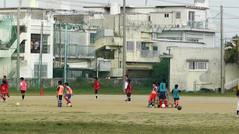 Elementary School Sport Center in Okinawa Islands Japan 04 football soccer Footage