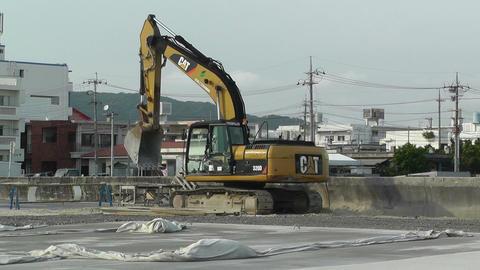 Excavator in work Okinawa Islands 01 Stock Video Footage