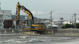 Excavator in work Okinawa Islands 01 Footage