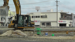 Excavator in work Okinawa Islands 03 Stock Video Footage