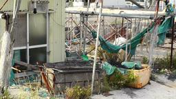 Garbage in Fishing Port 01 Footage
