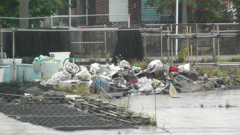 Garbage on Street 01 Stock Video Footage