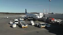 Helsinki Vantaa Airport 04 handheld Stock Video Footage