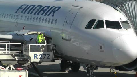 Helsinki Vantaa Airport 06 handheld Stock Video Footage