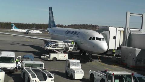 Helsinki Vantaa Airport 08 handheld Stock Video Footage