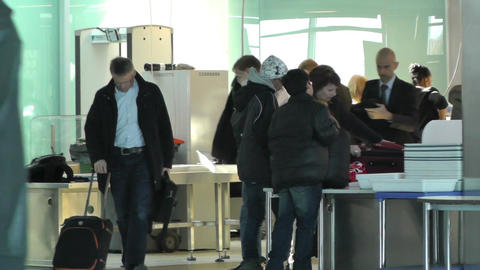 Helsinki Vantaa Airport 12 security check handheld Footage