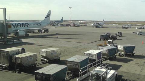 Helsinki Vantaa Airport 18 handheld Stock Video Footage