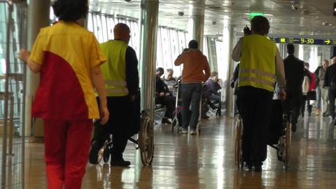 Helsinki Vantaa Airport 24 60fps native slowmotion handheld Stock Video Footage