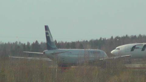 Helsinki Vantaa Airport 32 handheld Stock Video Footage