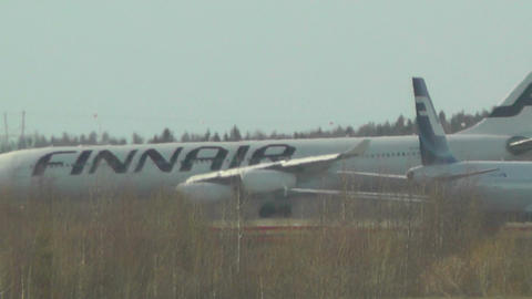 Helsinki Vantaa Airport 32 handheld Stock Video Footage