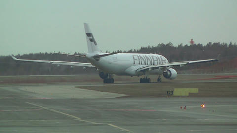 Helsinki Vantaa Airport 34 handheld Stock Video Footage