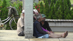 Homeless in Japan Stock Video Footage