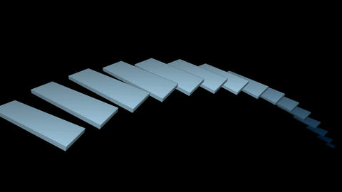 moving conveyor belt & stairs,square card papers math geometry array,compute Animation