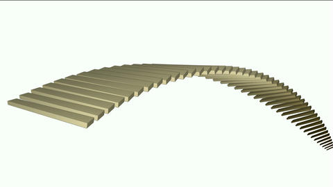 square box shaped arch bridge,math geometry... Stock Video Footage