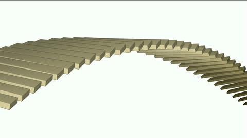 square box shaped arch bridge,math geometry... Stock Video Footage