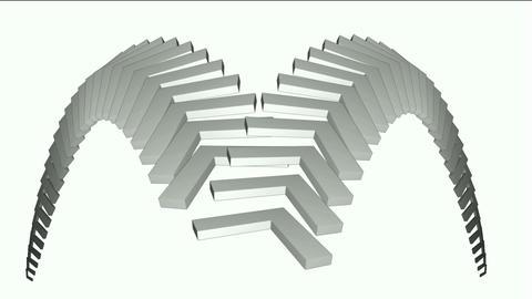 moving corner conveyor belt & stairs,math geometry... Stock Video Footage