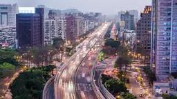 台北市の微速度撮影 影片素材