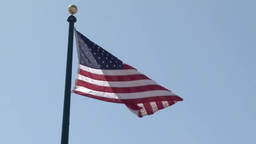 American flag wave in a breeze Footage
