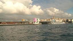 Cruise ships passing through Bosphorus in Turkey Footage