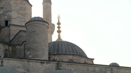 Close-up view of Blue Mosque in Istanbul, Turkey Footage