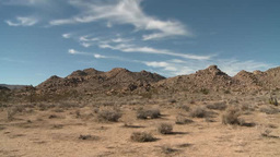 Clouds drift over desert in Joshua Tree National Park Footage