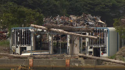 Devastated Area By Tsunami Occurred On March 11, 2011 In Japan stock footage