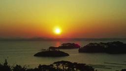 松島湾から昇る朝日 ビデオ