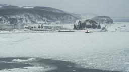 オホーツク海の流氷 Footage