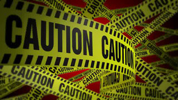 PoliceTape Caution Red stock footage