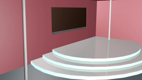 3d room design 4k Animation
