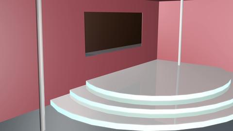 3d room design 4k Animation