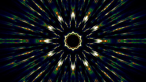 Kaleidoscope Psy Vj Shining Lights stock footage