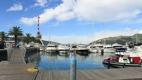 yachts in port Footage