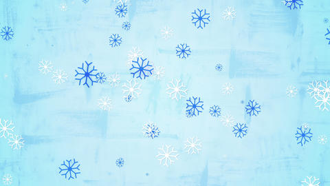 christmas snowfall child's drawing style seamless loop 4k (4096x2304) Animation