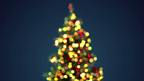 blurred christmas tree loopable 4k (4096x2304) Animation