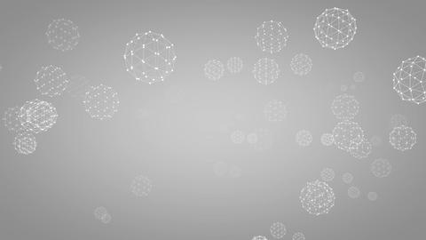 Rotating Light Network Spheres stock footage