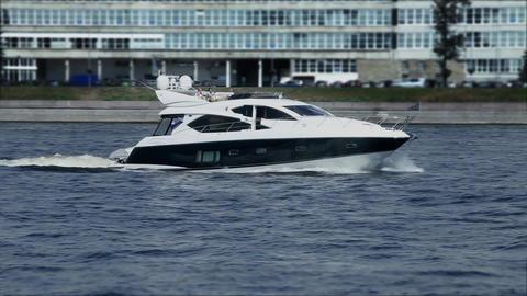cruising yacht Stock Video Footage