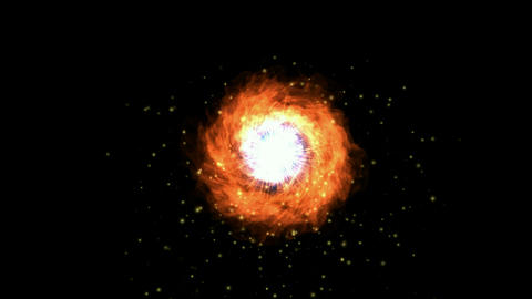 fire aura & explosion in space,flying through black... Stock Video Footage
