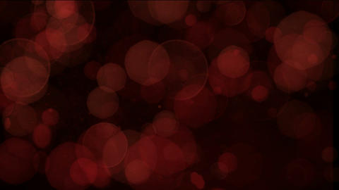 red light circle dots & particles slow glint,bubble... Stock Video Footage