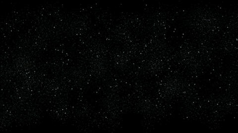 intensive stars in sky,falling dust & snowflake at night Stock Video Footage