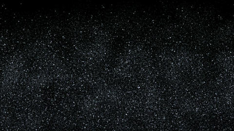 intensive stars in sky,falling dust & snowflake at night Animation